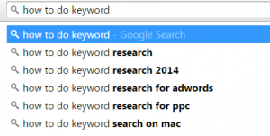 Keyword Research Step 1