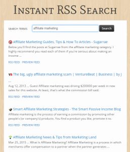 RSS Feed Search