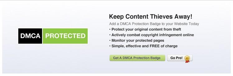 dmca for website free