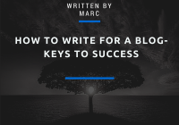 Learn to write a blog
