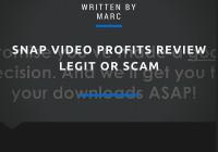 Snap Video Profits Review