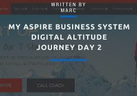 Digital Altitude Aspire Business System Journey day 2