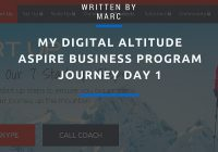 Digital Altitude Aspire Business Program Journey Day 1