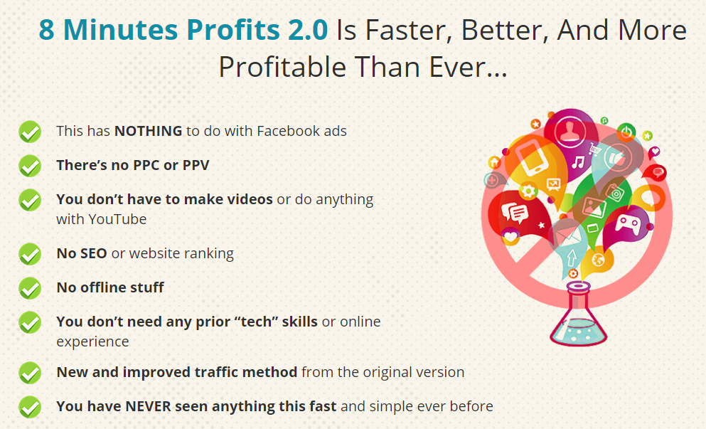 8 minute profit features