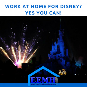 Work at Home for Disney Yes You Can!